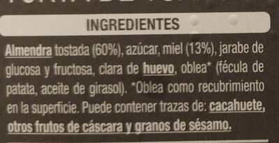Torta de turrón duro - Ingredients