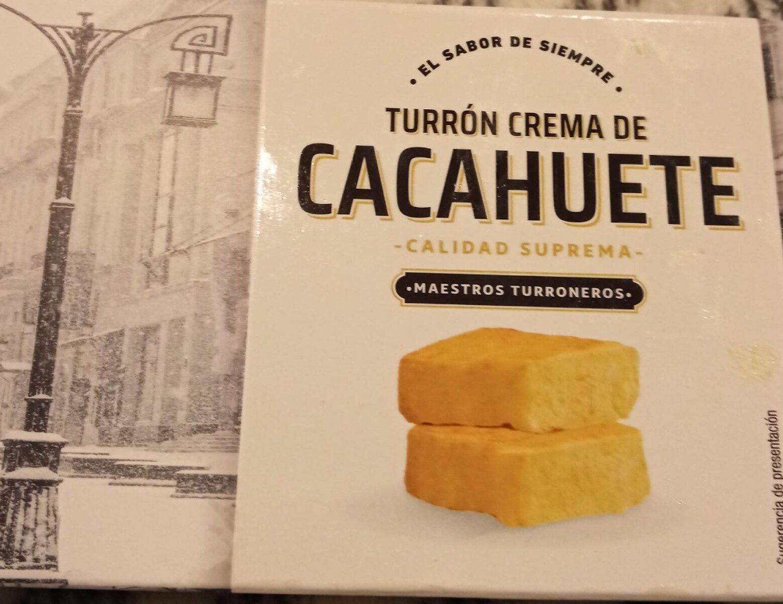 Turron crema cacahuete - Producto - es