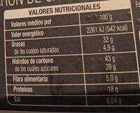 Turron crema cacahuete - Información nutricional - es