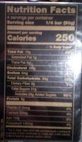 Turrón crema de almendras - Nutrition facts