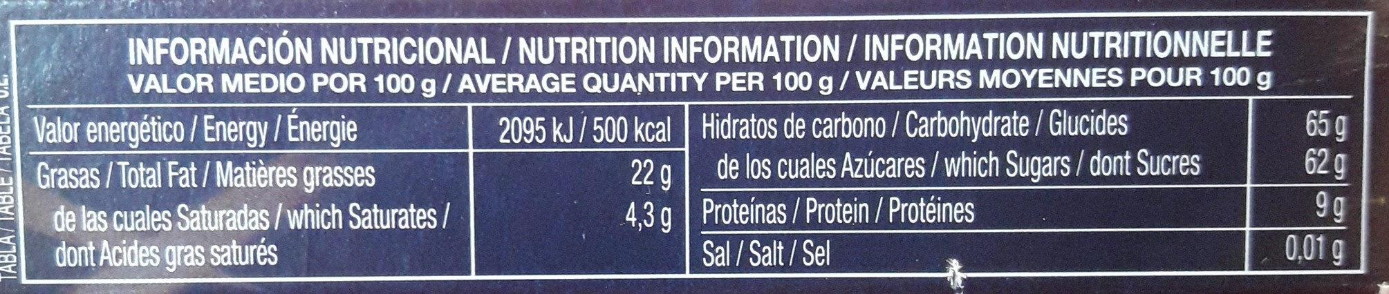 Turron de cacahuete refinado - Nutrition facts