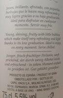 Vino blanco moscato frizzante - Nutrition facts