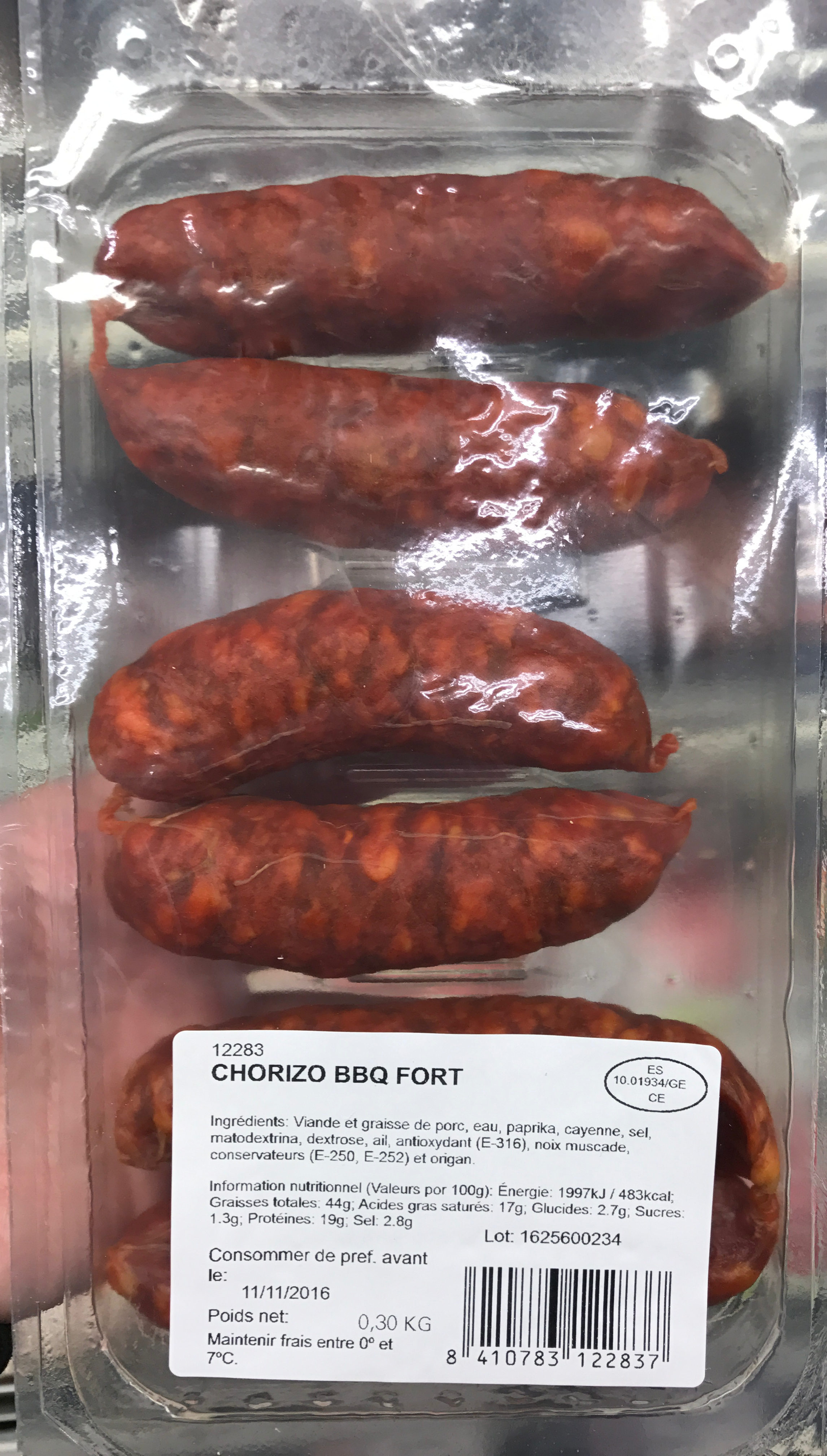 Chorizo BBQ fort - Produit - fr