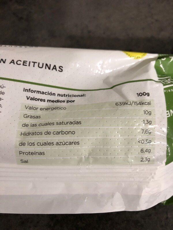 Veggie con aceitunas - Información nutricional - es