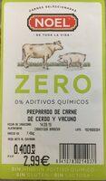 Preparado de carne de cerdo y vacuno - Producto
