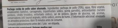 Pechuga pavo - Información nutricional - es