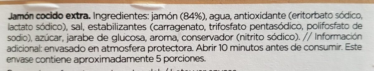 jamon cocido grand bouquet - Ingredients