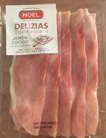 Delizias jamón cocido extra lonchas sin gluten sin lactosa - Producto - es