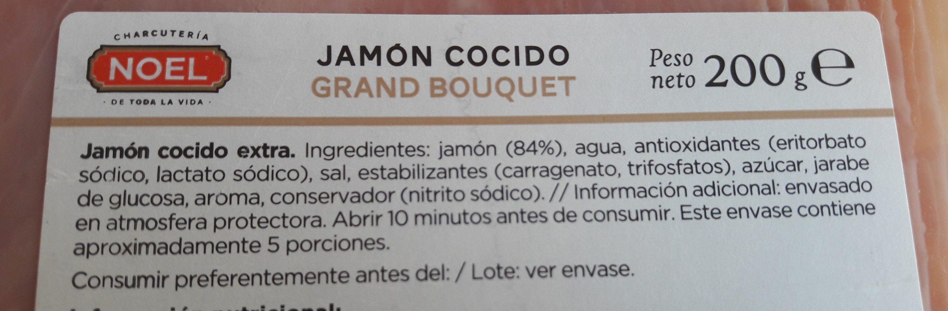 Grand bouquet jamon cocido extra - Ingredientes - fr