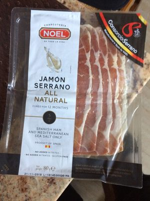 Jamon Serrano all natural cured for 12 months - Product