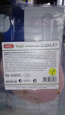 Mortadela veggie con aceitunas - Ingredientes - es