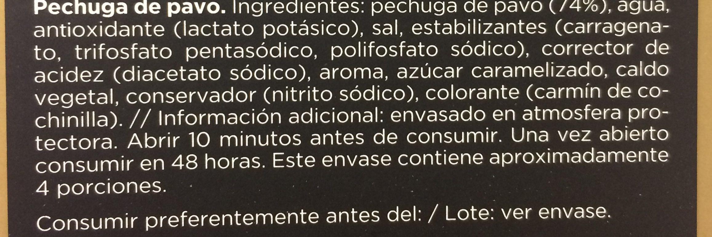 Pechuga de pavo - Ingredientes - fr