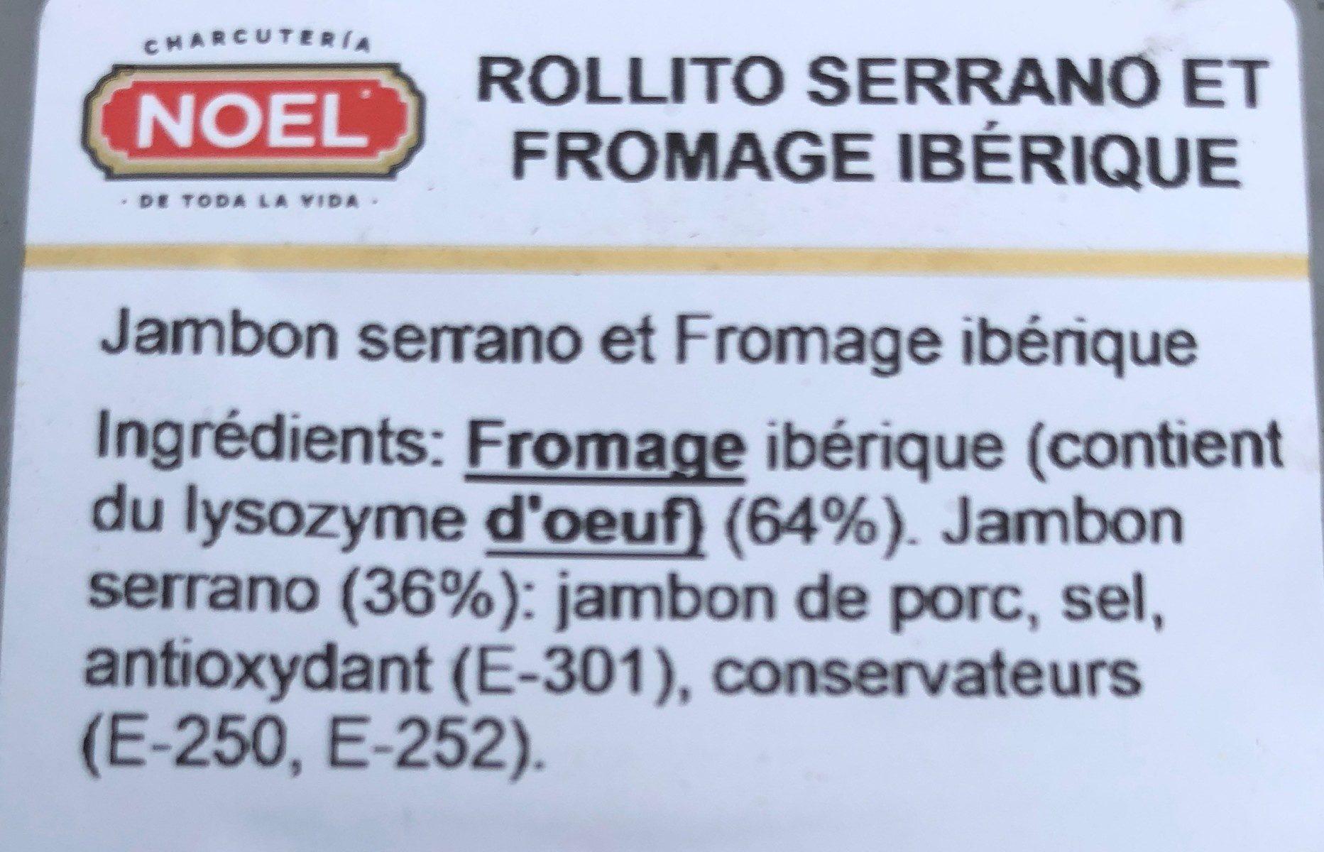 Mediterranean Rollitos - Ingrédients