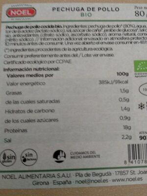 Pechuga de pollo bio Noel - Producto - es