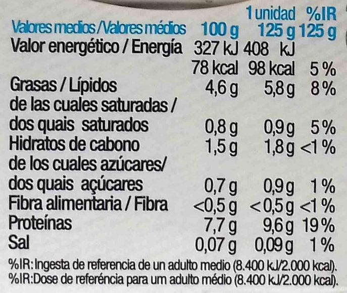 Tofu Bio silken - Información nutricional - es