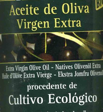 Aceite de oliva virgen extra ecológico - Ingrediënten