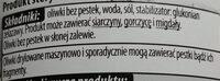Oliwki czarne drylowane - Ingrédients - pl