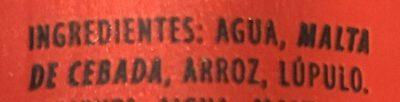 Estrella Dorada Beer - Ingredientes - es