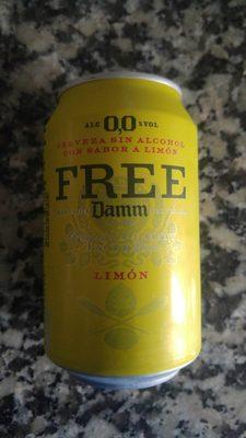 Free Cerveza Sin Alcohol Sabor Limón - Produit - es
