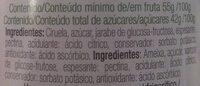 Mermelada extra de ciruela - Ingredientes - es
