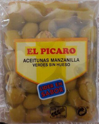 Aceitunas manzanilla verdes sin hueso