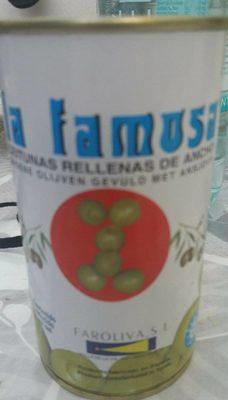 Aceitunas Rellenas de Anchoa - Produit