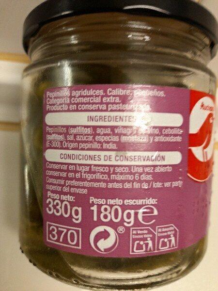 Pepinillos pequeños agridulces - Ingredients - es