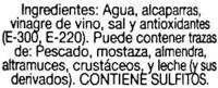 "Alcaparras ""Auchan"" - Ingrediënten - es"