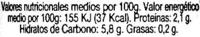 """Alcaparras """"Auchan"""" - Voedingswaarden - es"""