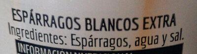 Esparragos - Ingredientes
