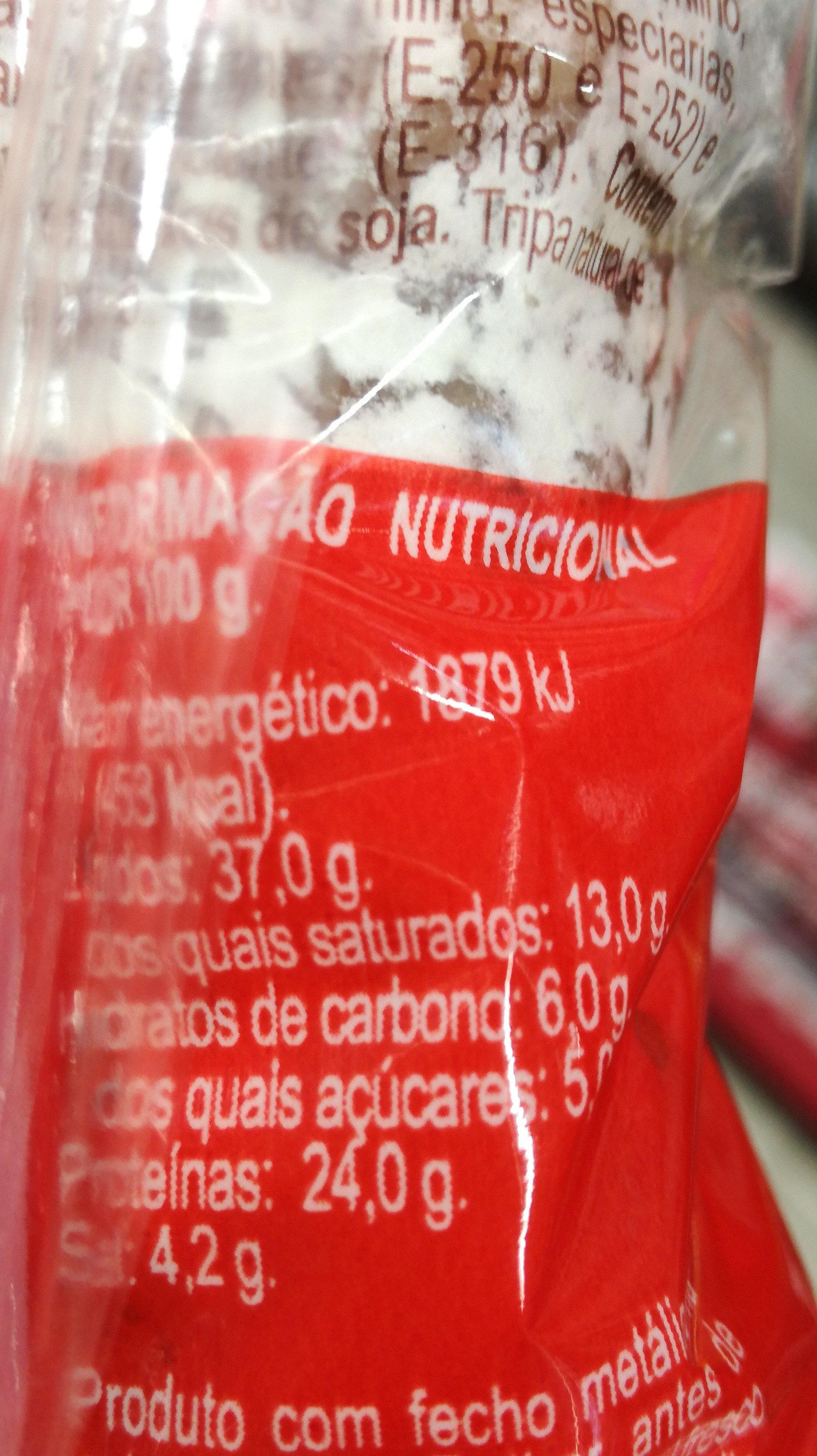 Salsichao Fuet Caseiro - Informació nutricional