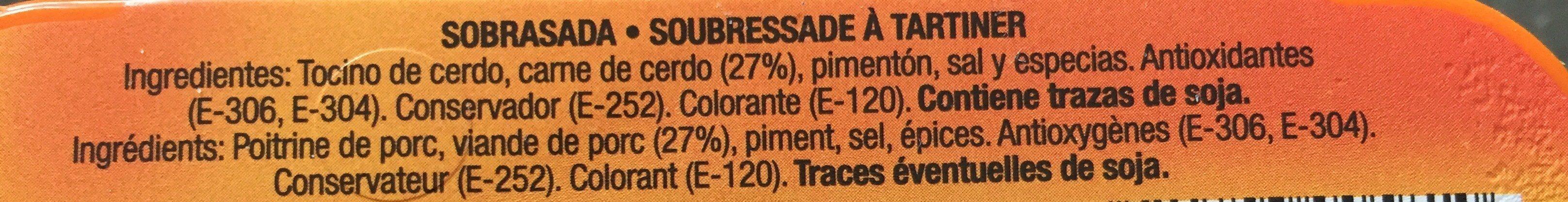 Sobrasada - Ingrédients