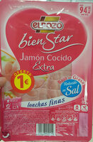 Bienstar jamón cocido extra bajo grasa lonchas - Producto - es