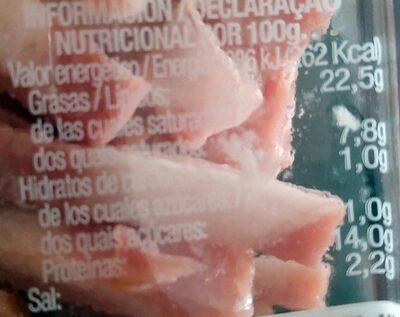Tiras de Bacon El Pozo - Informació nutricional - es