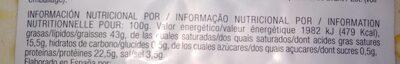 Chorizo Ibérico Legado - Informació nutricional - fr