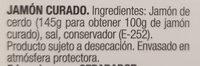 Selección jamón curado lonchas finas sin gluten sin lactosa - Ingredientes - es