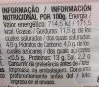 Chopped Lata extra - Nutrition facts - es