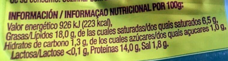 Bacon ahumado natural - Información nutricional - es