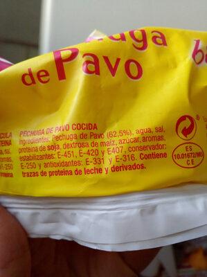 Pechuga de pavo - Ingredientes