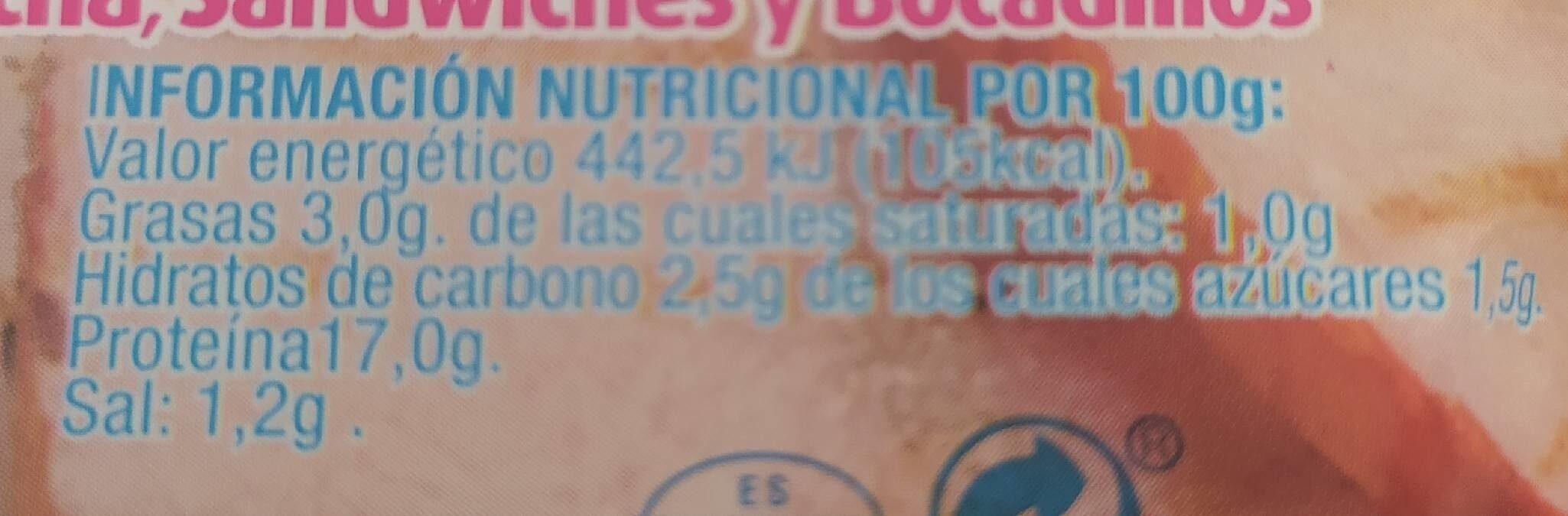 Lomo Adobado al Horno - Información nutricional - es