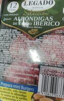 Albóndigas de cerdo ibérico - Voedigswaarden