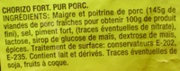 Chorizo Fort au piment d'Espagne - Ingredients - fr