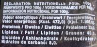 Chorizo Fort au piment d'Espagne - Nutrition facts - fr