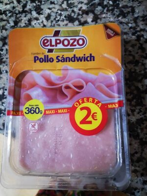 Fiambre de pollo sandwich - Producto - es