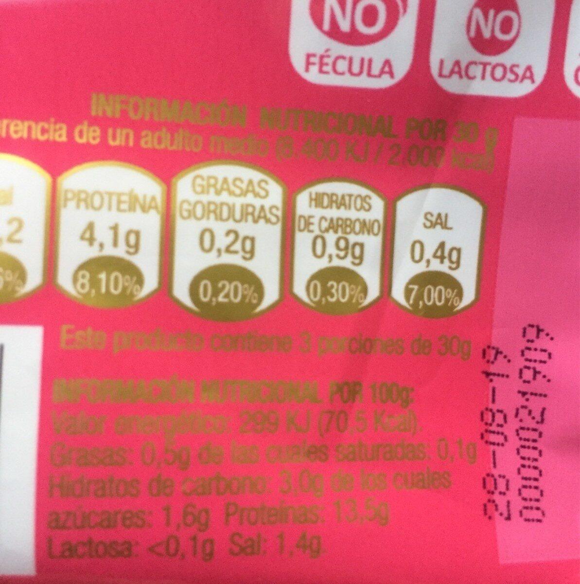 Pechugas de Pavo - bien Star - Información nutricional - en