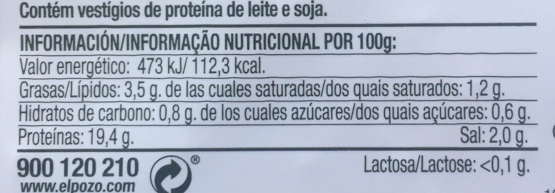 Jamón extra Westfalia - Información nutricional
