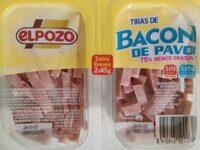 Tiras de bacon de pavo - Producto - es