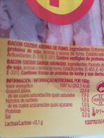 Bacon sabor original - Información nutricional - es