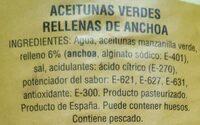 Aceitunas - Ingredients - es