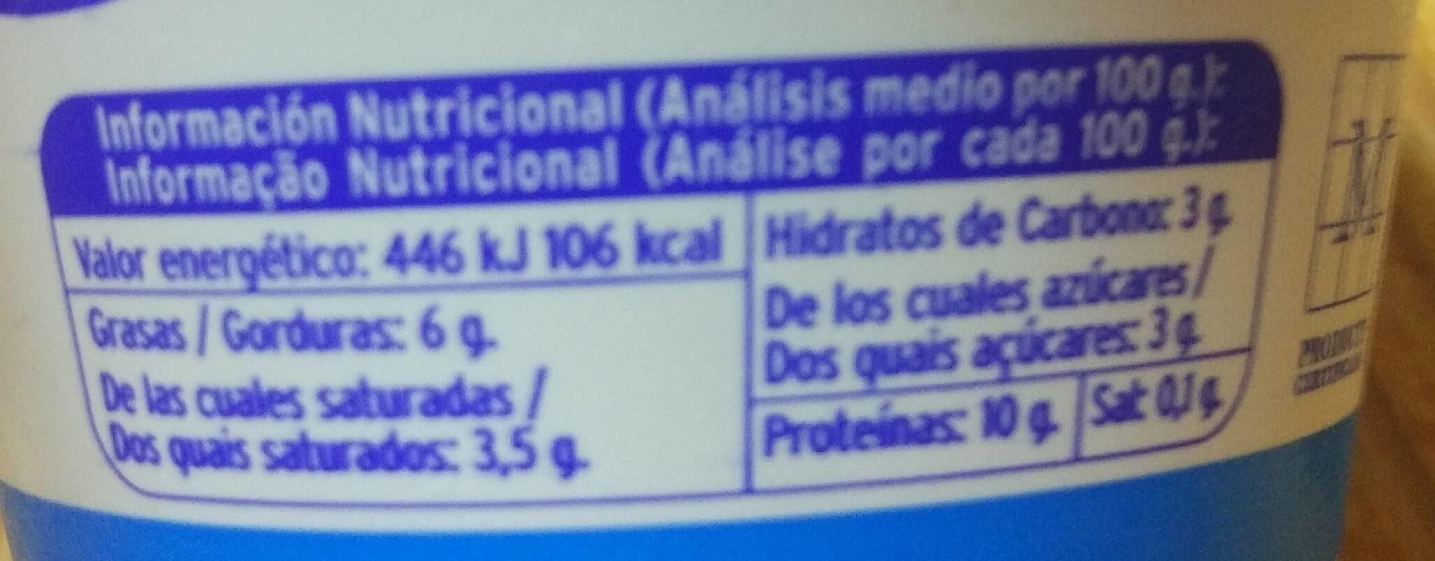 Requesón de Albe - Informations nutritionnelles